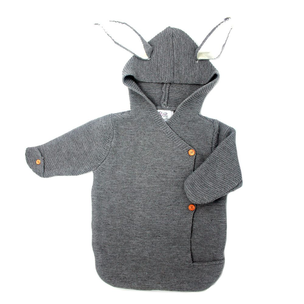 9b3e6f4ce Baby Knitted Bunny Snowsuit - MolliMoo
