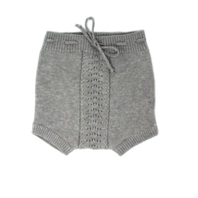 knitted grey bubble shorts