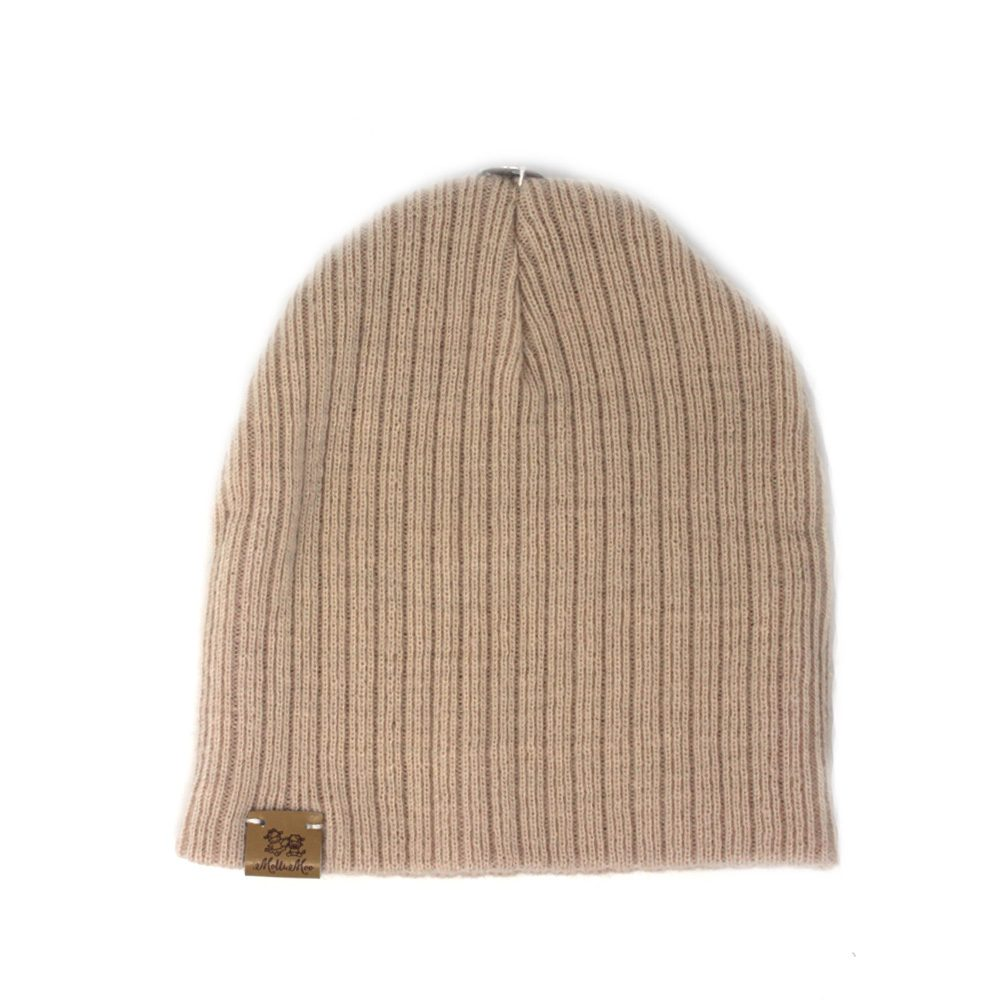 Create Your Own Winter Pompom Beanie Hat - Tan - MolliMoo 12f1f33376b